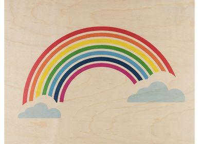 Autres décorations murales - Poster en bois Rainbow - WOODHI