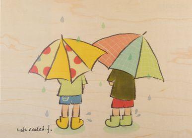 """Birthdays - Wood poster """"Rainy day"""" - WOODHI"""