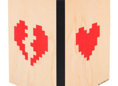 "Travel accessories / suitcase - Wood notebook ""Hearts"" - WOODHI"