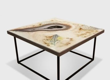 Coffee tables - Exceptional coffee tables in enamelled lava - ATELIER PÉPITE DE LAVE
