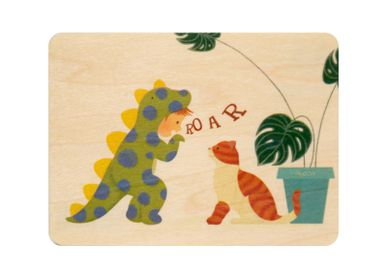 "Card shop - Woodhikids card ""Roar"" - WOODHI"