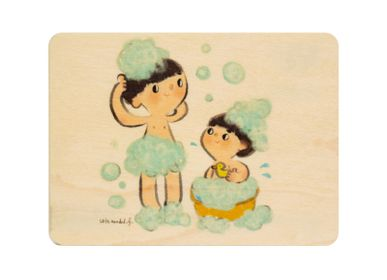 "Card shop - Woodhikids card ""Bubble bath"" - WOODHI"