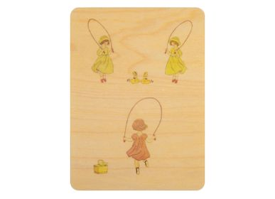 "Other wall decoration - Woodhikids card ""Corde à sauter"" - WOODHI"