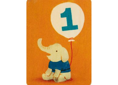 "Design objects - Woodhikids card ""1"" - WOODHI"