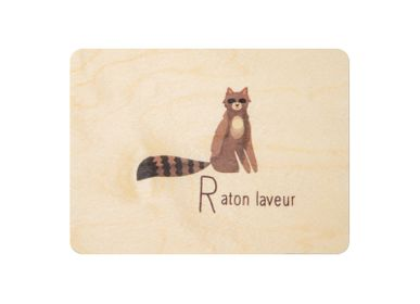 "Gifts - Woodhikids card ""Raccoon"" - WOODHI"