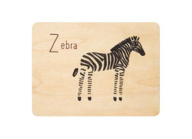 "Birthdays - Woodhikids card ""Zebra"" - WOODHI"