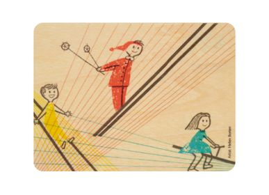 "Birthdays - Woodhikids card ""Jump"" - WOODHI"