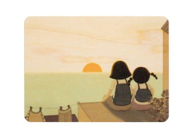 "Card shop - Woodhikids card ""Sunset"" - WOODHI"