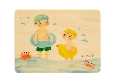 "Birthdays - Woodhikids card ""Have fun by the sea"" - WOODHI"