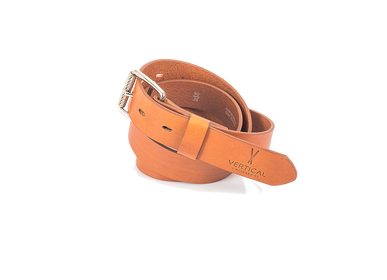 Leather goods - Camel Genuine Leather Belt - VERTICAL L ACCESSOIRE