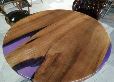 Tables - Purple round table - DESIGNTRADE