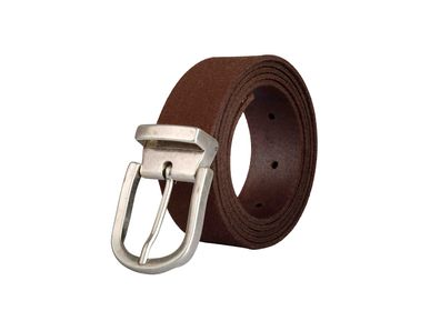 Leather goods - Brown leather belt with interchangeable buckle  - VERTICAL L ACCESSOIRE