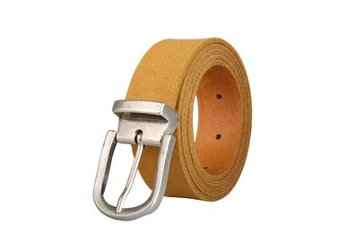Leather goods - Camel leather belt with interchangeable buckle  - VERTICAL L ACCESSOIRE