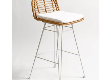 Lawn chairs - STOOL CB6143-BLANCO - CRISAL DECORACIÓN