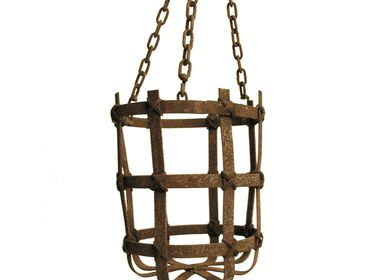 Casket / box - Iron basket large with chain - SEMPRE LIFE