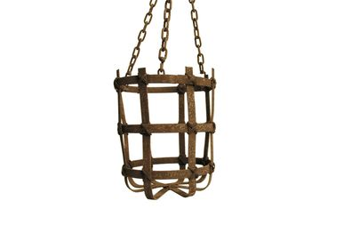 Casket / box - Iron basket medium with chain - SEMPRE LIFE