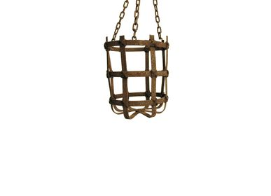 Casket / box - Iron basket small with chain - SEMPRE LIFE