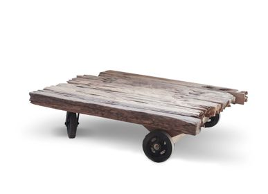 Coffee tables - Mendoza coffee table wheels railway - SEMPRE LIFE