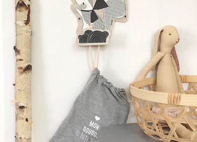 Decorative items - WOODEN HANGER FOR CHILDREN'S CLOTHING - LOVELY TRIBU