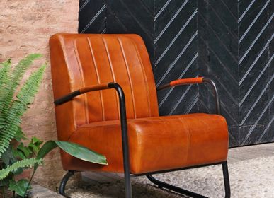 Armchairs - Visitor Leather Armchair - MISTER WILS