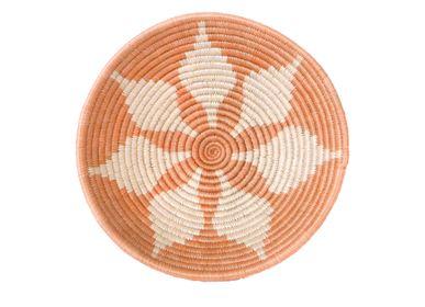 Wall decoration - Medium Apricot Round Basket - ALL ACROSS AFRICA + KAZI