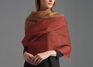 Scarves - Ananda cashmere and gold scarf - SADHU HANDMADE NATURALS