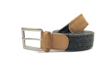 Leather goods - Grey braided belt - VERTICAL L ACCESSOIRE