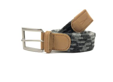 Leather goods - Grey black braided belt - VERTICAL L ACCESSOIRE