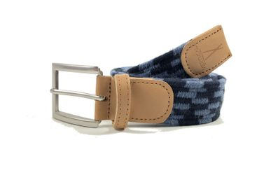 Leather goods - Blue black braided belt - VERTICAL L ACCESSOIRE