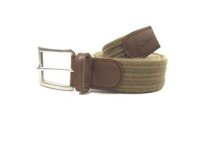 Leather goods - Light brown braided belt - VERTICAL L ACCESSOIRE