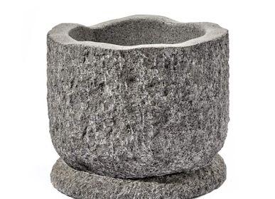 Pots de fleurs - Mortier Romelu Ø40 pierre de rivière - SEMPRE LIFE