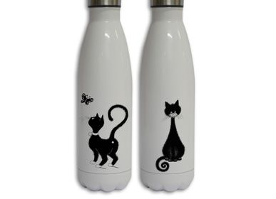 "Tea / coffee accessories - The bottle ""Les Cats de Dubout"" - ROYAL TAPISSERIE MADE IN FRANCE"