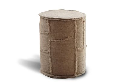 Decorative objects - Round pouffe jute small Ø35 x h46 - SEMPRE LIFE