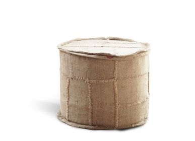 Decorative objects - Round pouffe jute large Ø55 x h46 - SEMPRE LIFE