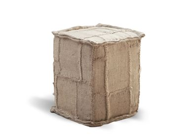 Decorative objects - Square pouffe jute small 35x35x46 - SEMPRE LIFE