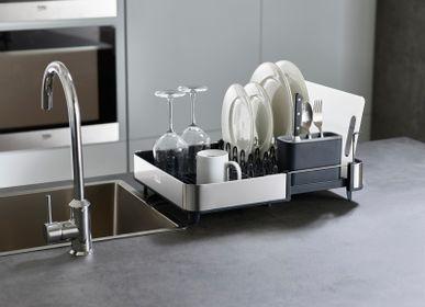 Dish Drainer - Extend™ Steel Extendable Dish Drainer with Pour Spout - JOSEPH JOSEPH