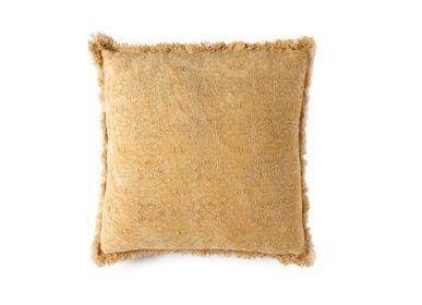 Fabric cushions - Harmony mustard cotton cushion AX70201 - ANDREA HOUSE