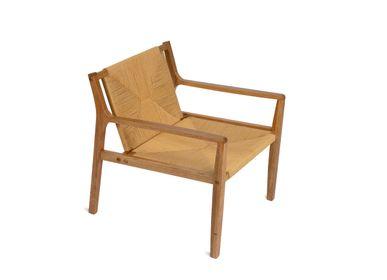 Fauteuils - Fauteuil Catalina, bois de chêne et corde de papier MU70185 - ANDREA HOUSE