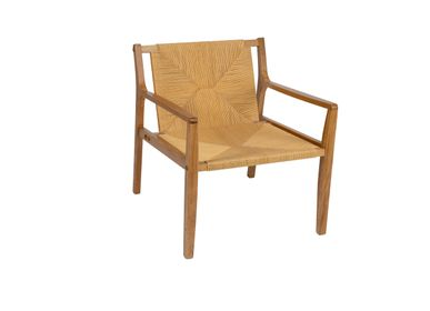 Armchairs - Catalina armchair, oak wood and paper rope MU70185 - ANDREA HOUSE