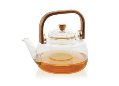 Tea / coffee accessories - Glass teapot with bamboo handle 1 L - MS70109 - ANDREA HOUSE