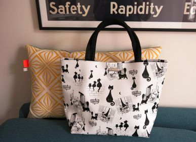 "Bags / totes - The bags ""Les Cats de Dubout"" - ROYAL TAPISSERIE MADE IN FRANCE"