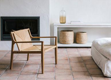 Sièges pour collectivités - Fauteuil Catalina, bois de chêne et corde de papier MU70185 - ANDREA HOUSE