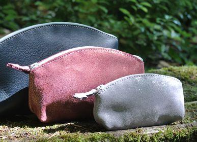 Leather goods - Mini Glitter Leather Treasure Pencil Case - LA CARTABLIÈRE