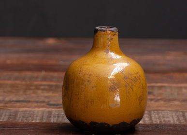 Vases - Small ceramic vase mustard - CHEHOMA