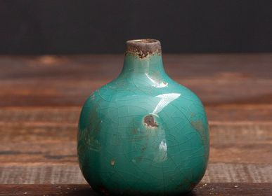 Vases - Small Water Green Ceramic Vase - CHEHOMA