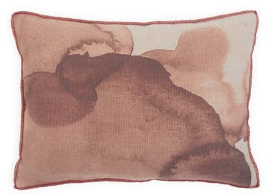 Fabric cushions - Encre cushions and quilt  - LE MONDE SAUVAGE BEATRICE LAVAL
