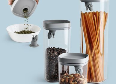 Office furniture and storage - Lucky Mouse Storage Jar & Container + Scoop - Kitchenware : Kitchen Food Storage Container 100% recyclable. - QUALY DESIGN OFFICIAL