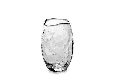 Glass - Helena cup Ø8 x h16 crackle - SEMPRE LIFE