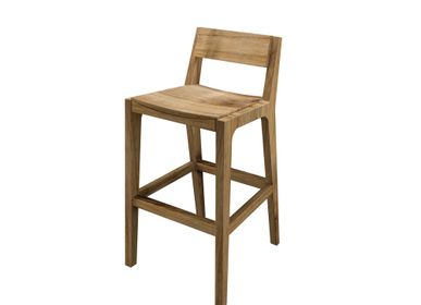 Chaises - Bar chair Jules natural teak - SEMPRE LIFE