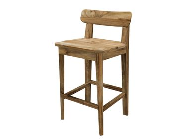 Chairs - Bar chair Maria natural teak outdoor - SEMPRE LIFE